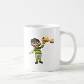 Campeón del rugbi tazas de café
