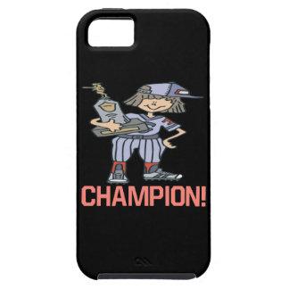 Campeón del softball funda para iPhone SE/5/5s