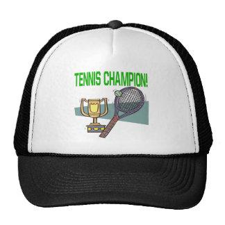 Campeón del tenis gorros
