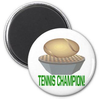 Campeón del tenis imán para frigorifico