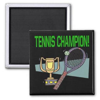 Campeón del tenis imanes de nevera