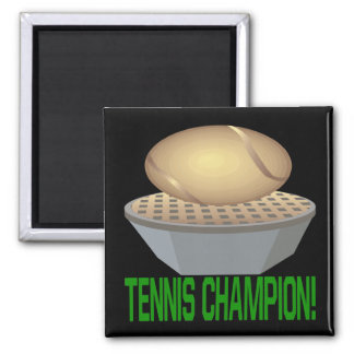 Campeón del tenis imán para frigorífico