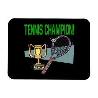 Campeón del tenis iman de vinilo
