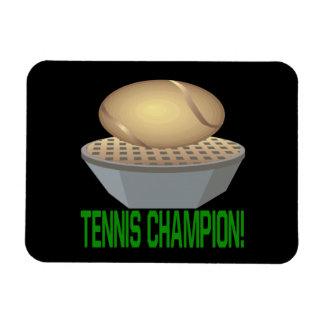 Campeón del tenis imanes de vinilo