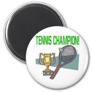 Campeón del tenis imán redondo 5 cm