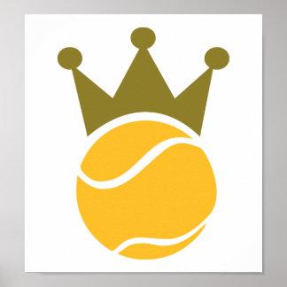 Campeón del tenis posters