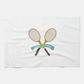 Campeón del tenis toallas de mano