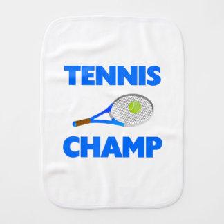 Campeón del tenis paños de bebé