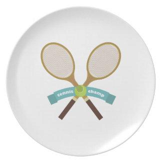 Campeón del tenis plato