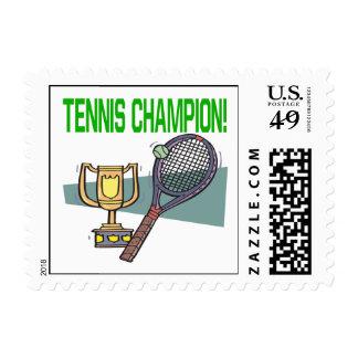 Campeón del tenis franqueo