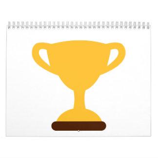 Campeón del trofeo de la taza calendarios
