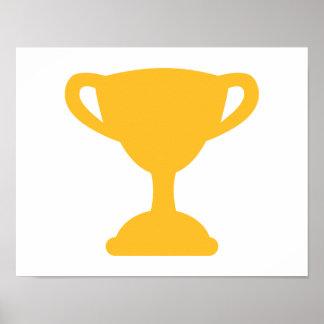 Campeón del trofeo de la taza póster