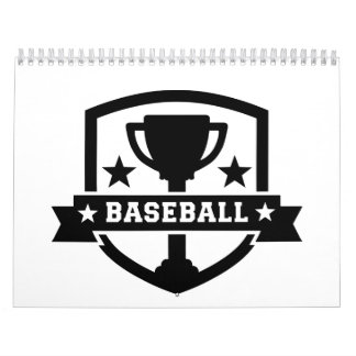 Campeón del trofeo del béisbol calendarios