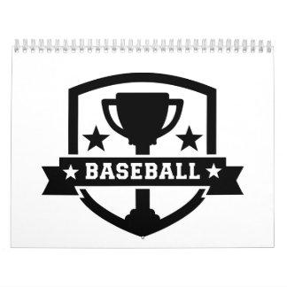 Campeón del trofeo del béisbol calendario de pared