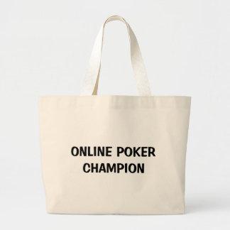 Campeón en línea del póker bolsa de mano