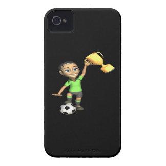 Campeón femenino del fútbol carcasa para iPhone 4 de Case-Mate