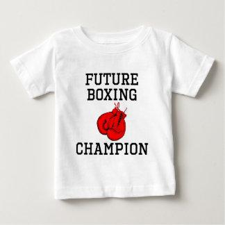 Campeón futuro del boxeo playera de bebé