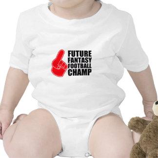 Campeón futuro del fútbol de la fantasía trajes de bebé