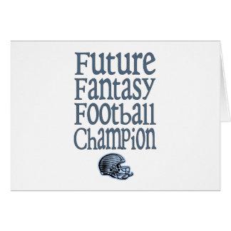 Campeón futuro del fútbol de la fantasía tarjeta