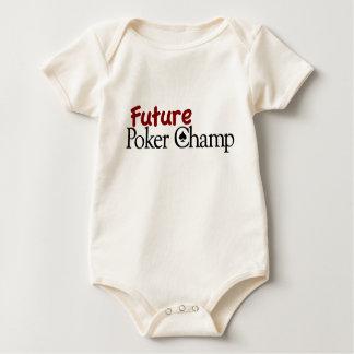 Campeón futuro del póker body para bebé