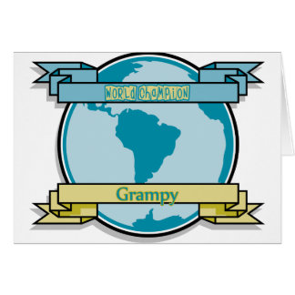 Campeón Grampy del mundo Felicitaciones