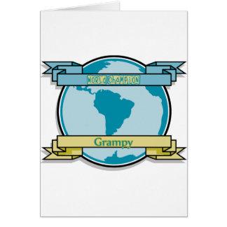 Campeón Grampy del mundo Tarjeta De Felicitación