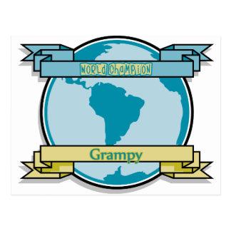 Campeón Grampy del mundo Tarjetas Postales