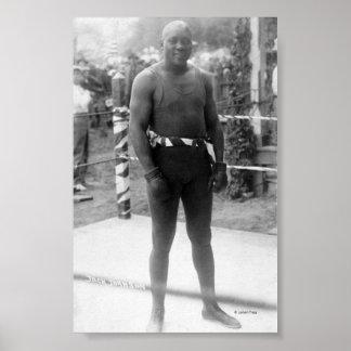 Campeón Jack Johnson del boxeo Posters