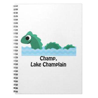 Campeón, lago Champlain Cuadernos