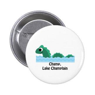 Campeón, lago Champlain Pin Redondo De 2 Pulgadas