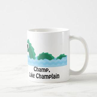 Campeón, lago Champlain Taza Básica Blanca