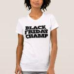 Campeón negro de viernes camiseta