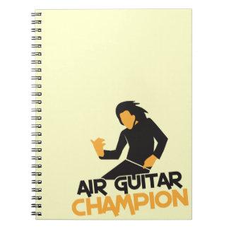 Campeón NP de Air Guitar Libreta Espiral