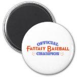 Campeón oficial del béisbol de la fantasía iman de frigorífico