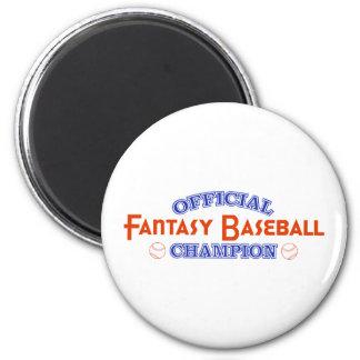 Campeón oficial del béisbol de la fantasía imán redondo 5 cm