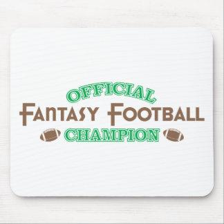 Campeón oficial del fútbol de la fantasía alfombrilla de ratones