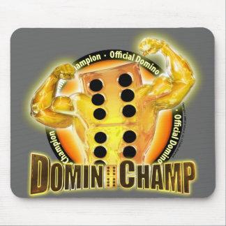 Campeón oficial Mousepad del dominó Tapetes De Ratón