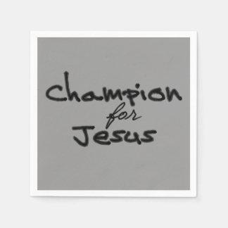 Campeón para Jesús Servilleta De Papel