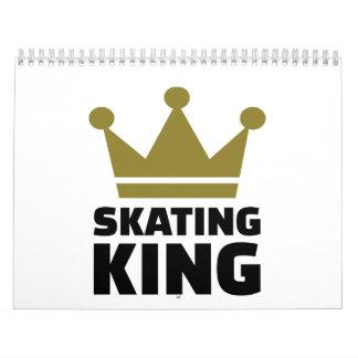 Campeón patinador del rey calendarios