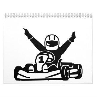 Campeón que compite con de Kart Calendarios