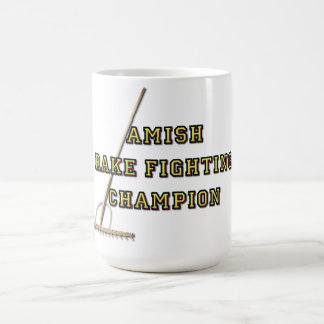 Campeón que lucha del rastrillo de Amish Taza De Café