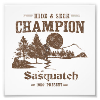 Campeón Sasquatch del escondite Impresión Fotográfica