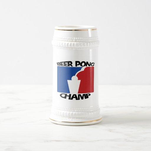 Campeón Stein de Pong de la cerveza Jarra De Cerveza