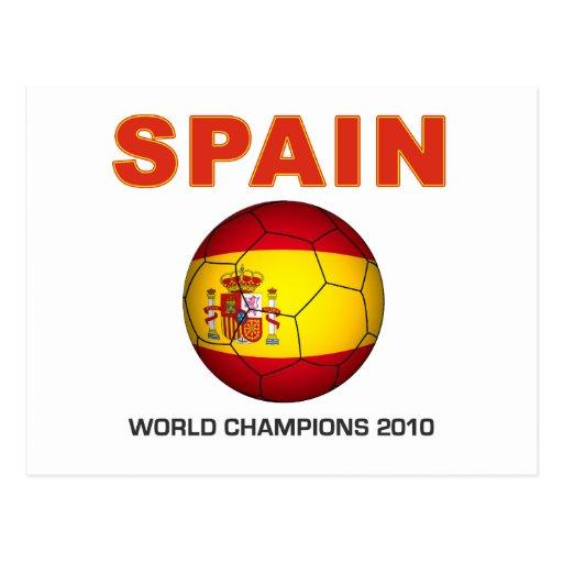Campeón Suráfrica del mundial 2010 de España Tarjeta Postal