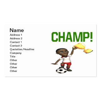 Campeón Tarjetas De Visita