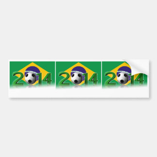 Campeonato 2014 del mundo del fútbol pegatina para auto