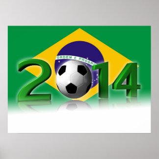Campeonato 2014 del mundo del fútbol póster