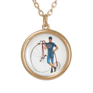 Campeonato de la bicicleta del vintage colgante redondo