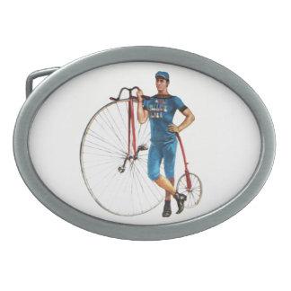 Campeonato de la bicicleta del vintage hebilla de cinturon oval
