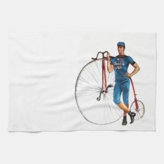 Campeonato de la bicicleta del vintage toalla de mano
